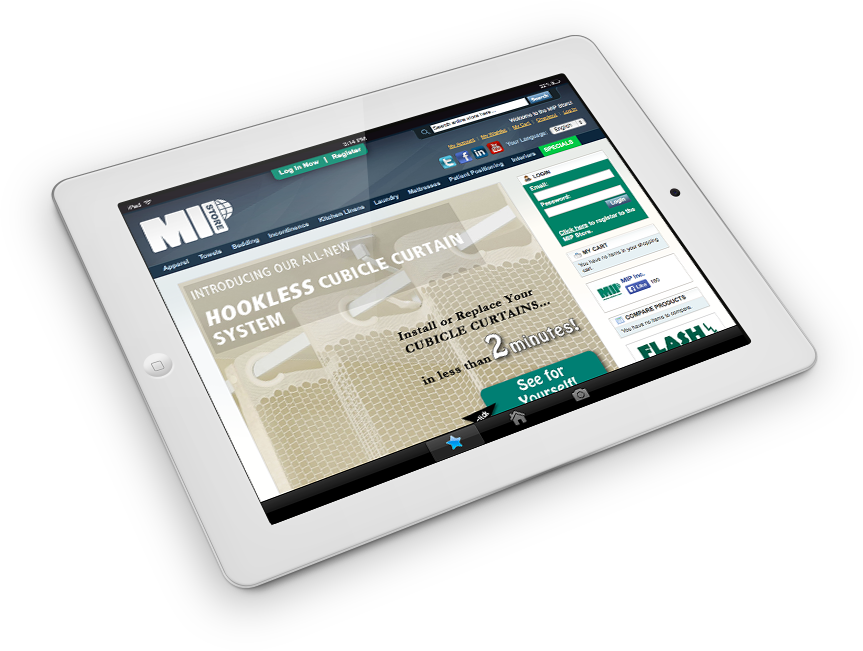 MIP Store on an iPad